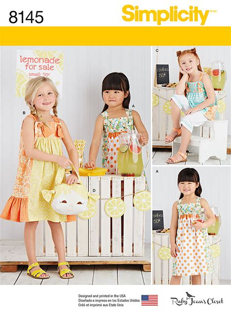 sewing pattern catalogs simplicity 8145 simplicity pattern 8145 child s pattern