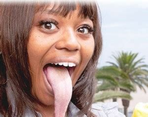Meet The Girl With The Longest Tongue In The World Video | photos meet the girl with the longest tongue in the world