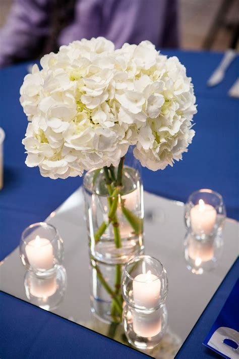 Centerpieces Vase Simple Wedding Reception Centerpieces White Hydrangeas