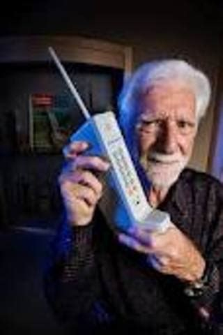 martin cooper  cellphone inventor timeline timetoast