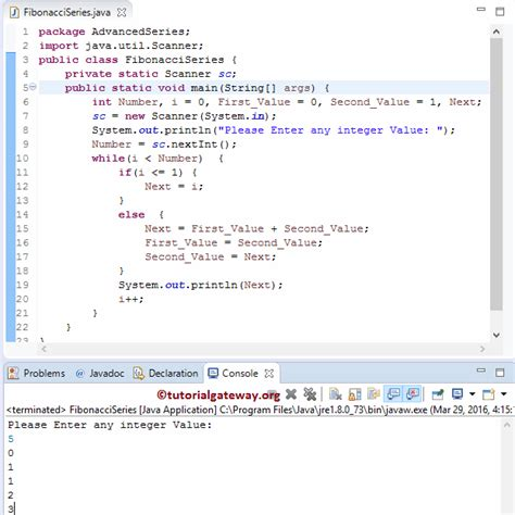 number pattern in c using for loop program to print fibonacci series in java