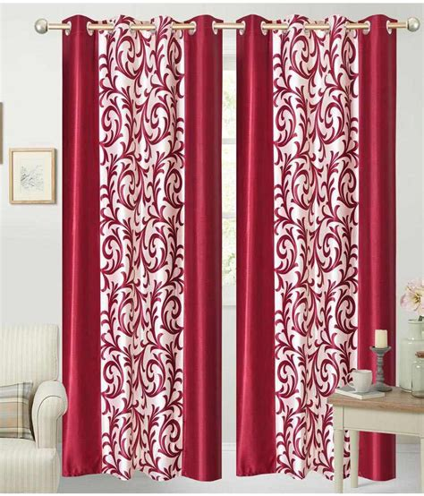 floral red curtains fabbig latest red floral curtains set of 4 buy fabbig