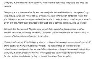 property disclaimer template exle of a web site disclaimer