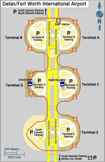 dfw airport map dallas fort worth international airport travel guide at