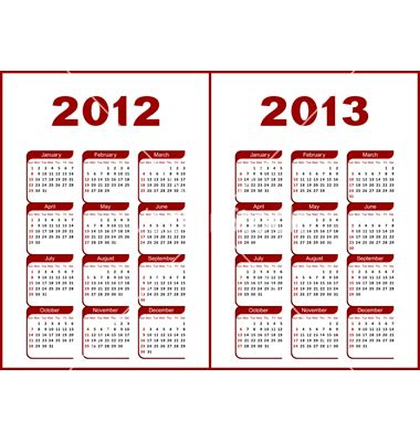 Templates Free 2012 by Yearly Calendar 2012 And 2013 Templates Free Printable