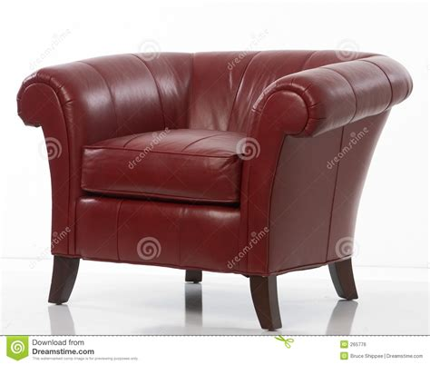 armchair red red leather armchair royalty free stock image image 265776