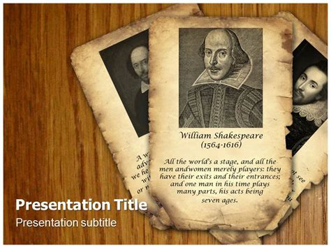 Shakespeare Powerpoint Template shakespeare ppt powerpoint templates william
