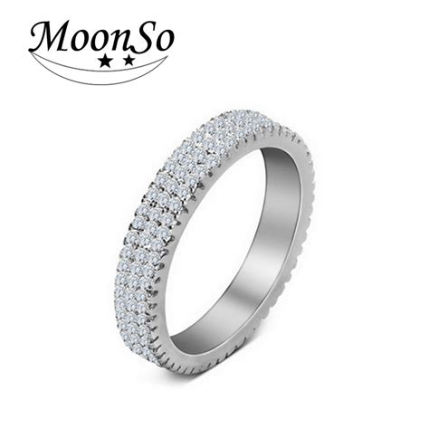 moonso 925 sterling silver rings personalized ring bands