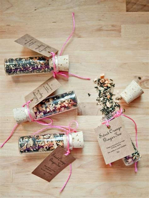 diy wedding favour ideas uk make custom mixed sweet orange tea favors hgtv