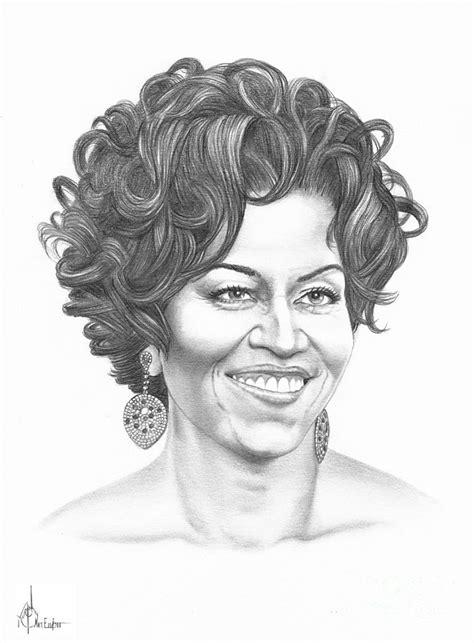 Duvet Sales Michelle Obama Drawing By Murphy Elliott