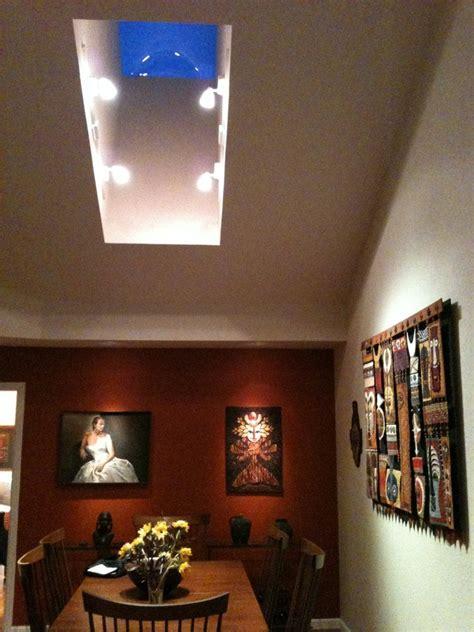 accent lighting for paintings lafayette heler residence track lighting in skylight 3
