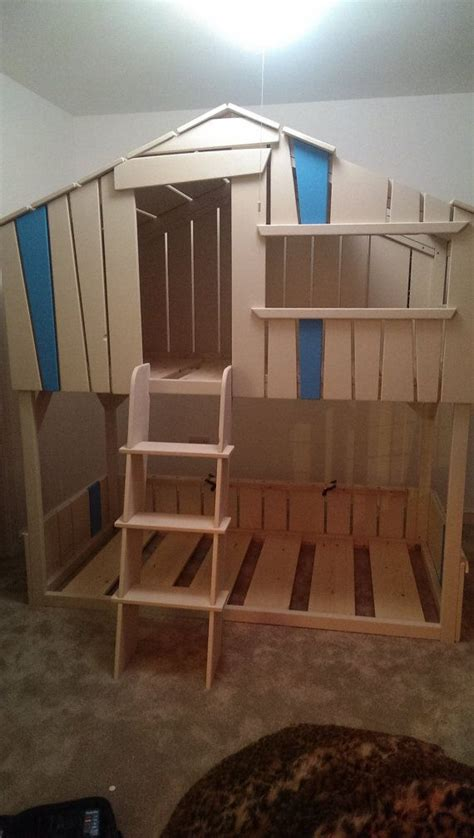 Tree House Bunk Bed Tree House Play House Bunk Bed Made Childrens By Knotydread 163 1850 00 Pinterest