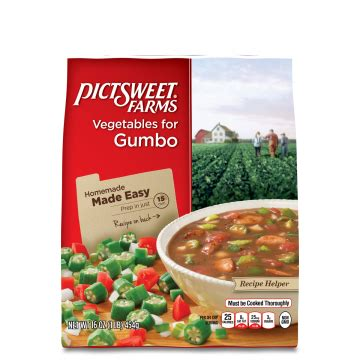 vegetables in gumbo gumbo recipes pictsweet farms