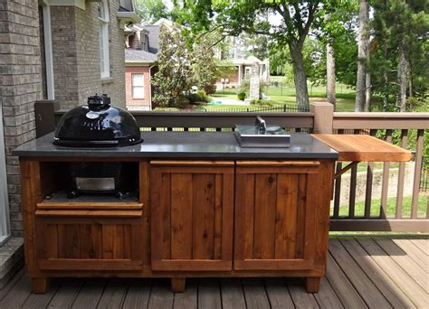 Big Green Egg Outdoor Kitchen by Green Egg Built In Outdoor Kitchen Ideas Bistrodre Porch