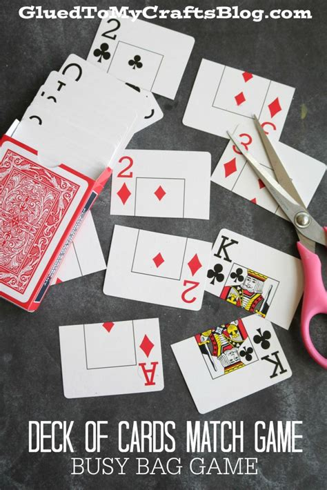 gift card ideas for the elderly deck of cards match busy bag idea glued to my crafts