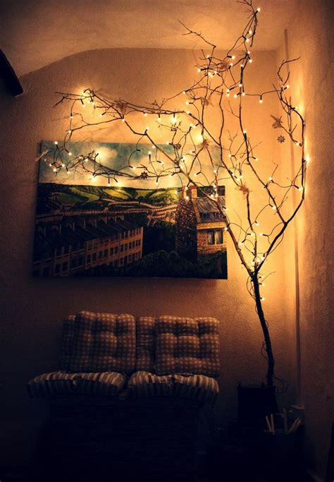 indoor light ideas trees in the corner and will on
