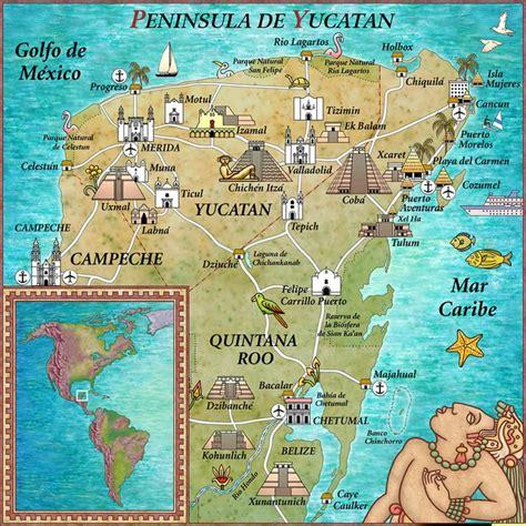 map of mexico yucatan peninsula driving from cancun to merida mexico