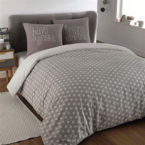 da letto grigia parure da letto grigia in cotone 240 x 260 cm kimono