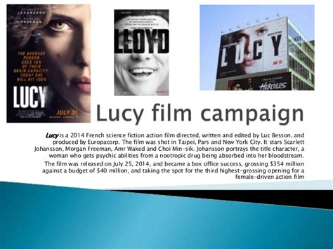 film lucy analysis lucy film caign