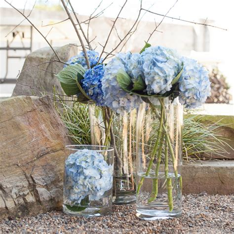 simply lush hydrangea centerpiece trio