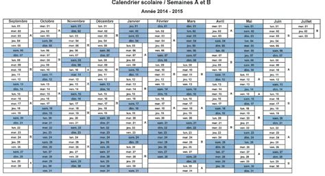 Calendrier Semaine 2014 Calendrier 2015 Semaines