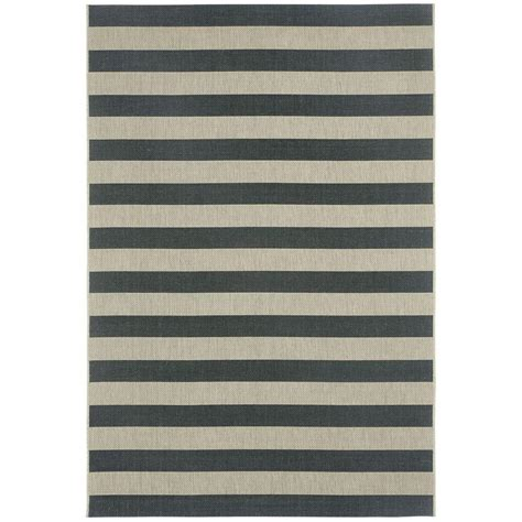 Capel Outdoor Rugs Capel Elsinore Stripe Cinders 7 Ft 10 In X 11 Ft Area Rug 4730rs07101100375 The Home Depot