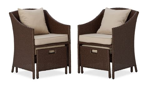 wicker chairs with ottoman underneath strathwood all weather wicker 5