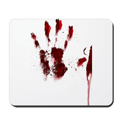 Mouse Pad Bloody bloody handprint mousepad by blackforestdesign