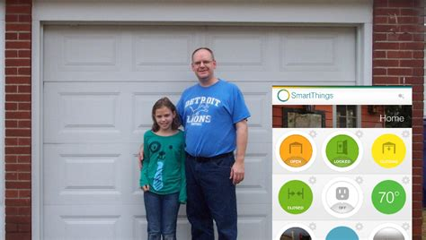 Smartthings Garage Door A Ridiculously Smart Garage Door More Smartthings