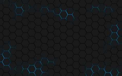 hexagon background pattern free blue black hexagon grid full hd wallpaper and background