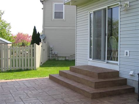 add stairs more storage plus patio and or garage house sted concrete patio steps google search sted