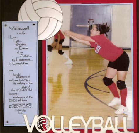 scrapbook layout ideas for volleyball volleyball scrapbook com scrapbook sports volleyball