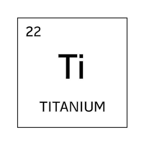 Titanium On Periodic Table by Black And White Element Cell For Titanium Science Notes