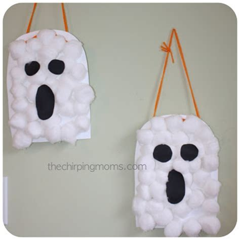 ghost crafts for cotton ghosts munchkins and