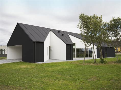 black and white house exterior design country house design in denmark sinus house by cebra architects digsdigs