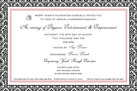 invitation letter sle for charity event 10 best images of benefit announcement letters