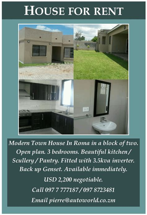 buy my house and rent it back house for rent in zambia