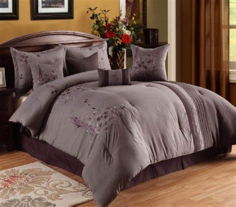 oversize king comforter oversized overfilled luxurious 8 piece purple lavendar
