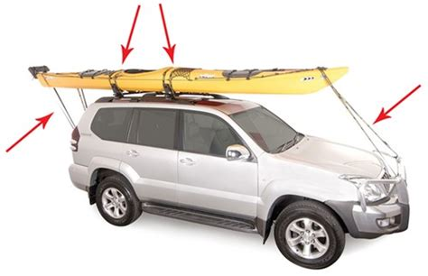 How To Attach Kayak To Roof Rack by Roof Mounted Watersport Carriers Etrailer