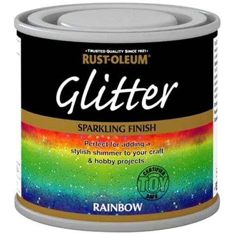 Home Decorative Accessories Uk by Rust Oleum Rainbow Glitter Hobby Craft Brush Paint
