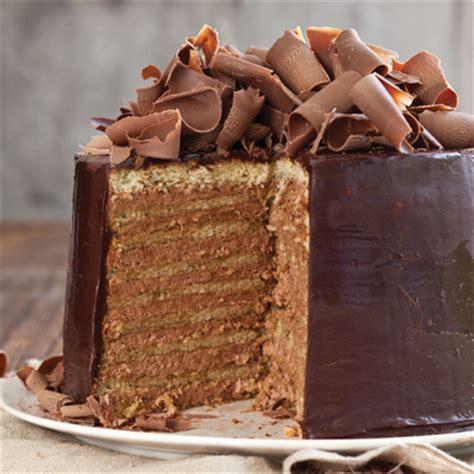 chocolate chicory doberge cake louisiana cookin