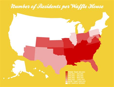 waffle house number number of residents per waffle house very small array