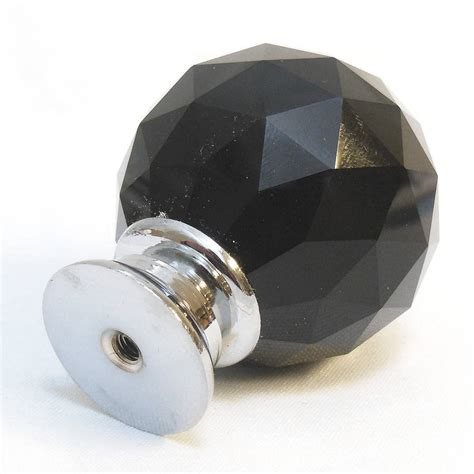 Pushka Door Knobs by Black Faceted Glass Cupboard Door Knobs By Pushka