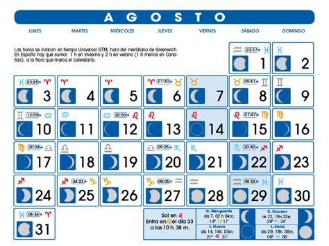 Calendario Lunare Agosto 2017 Calendario Lunar Agosto De 2015