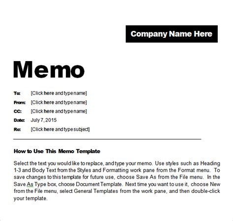 Memo Template In Word 2016 free memo templates word and excel excel pdf formats