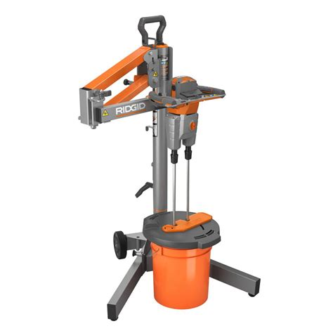 home depot paint mixer ridgid dual paddle programmable power mixer with stand