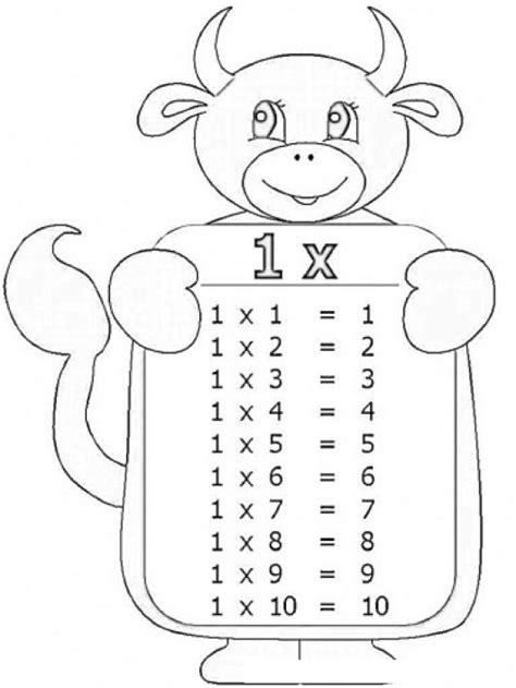 imagenes para colorear tablas de multiplicar tablas de multiplicar dibujo de la tabla de multiplicar