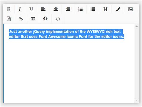 minimalist text editor minimal rich text editor with jquery and fontawesome