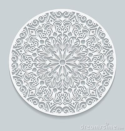 paper lace doily round crochet ornament stock vector round paper lace doily greeting card decorative