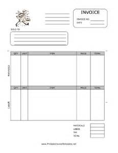 electrical invoice template free electrician invoice template